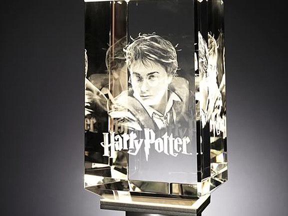 Kristallglas mit 3D Laserbild