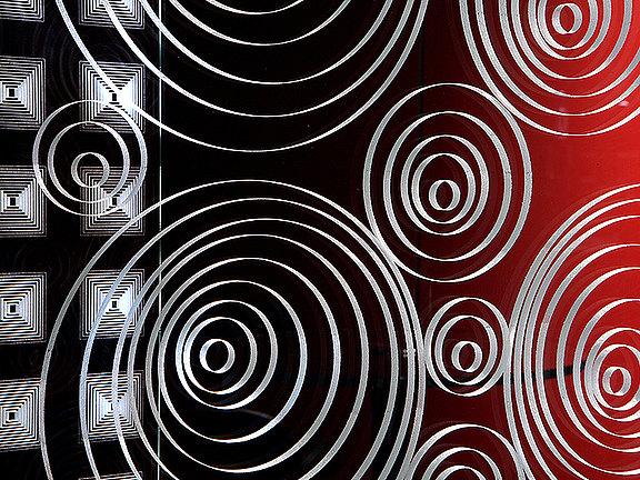 Laser innengraviertes Glas